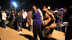 Little Boy performing Self Flagellation at Ashura Festival in Karachi, Pakistan Stock Footage