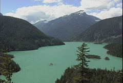 North Cascades NP Diablo Lake 2 Stock Footage