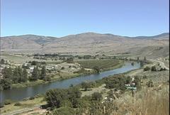 Okanogan River at Omak Washington  Stock Footage