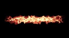 Fire Series: Horizontal Flames w Alpha Stock Footage