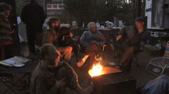 Oregon coast campfire 2 - stock footage