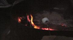 Roasting a marshmellow  Stock Footage