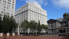 PView from Pioneer Square Portland OR Stock Footage