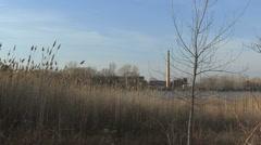 Power plant on Green Bay Lake Michigan Stock Footage