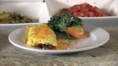 Fresh omelet Stock Footage
