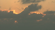 Golden clouds timelapse Stock Footage