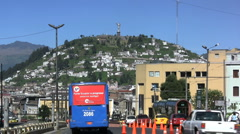 Quito hill with Virgin Stock Footage