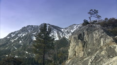 High cliffs at lake tahoe Stock Footage