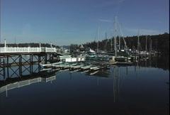 San Juan Island Roch Harbor boats Stock Footage