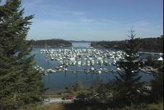 San Juan Island Roch Harbor marina Stock Footage