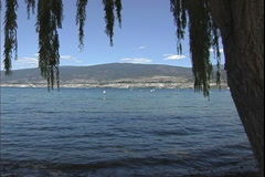 Sicamous BC lake Stock Footage