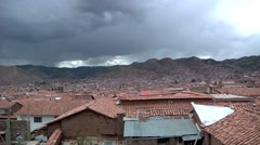 Stock Video Footage of Cusco Peru wide time lapse