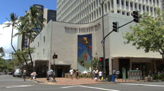 Waikiki mural on building  Stock Footage