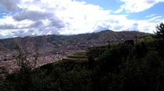 Cusco Ruins Time Lapse Stock Footage