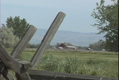 Whitman mission rail fence Stock Footage