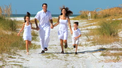 Healthy Family Time Outdoors Stock Footage