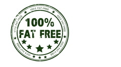 100% Fat Free Stock Footage