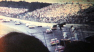 Stock Video Footage of Start of the 1968 Firecracker 400 NASCAR race, Daytona
