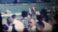 Stock Video Footage of Horses and jockeys warmup before the 1959 Kentucky Derby
