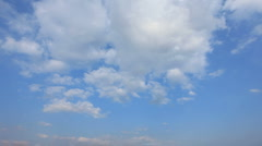 Sunny white clouds go away timelapse - stock footage