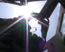 Humvee gunner under the sun in Afghanistan - stock footage