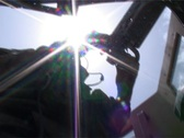 Humvee gunner under the sun in Afghanistan Stock Footage
