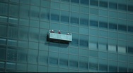Stock Video Footage of Window washers going up