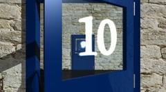 Countdown - Doors 02 (HD) - stock footage