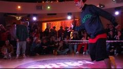 "Hip-hop final battle during ""Red Battle 2009"" event Stock Footage"