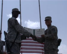 Stock Video Footage of Reenlistment in Afghanistan (Amazing footage!)