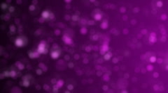 Purple abstract background with bright bokeh lights - stock footage