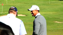 TIGER WOODS TALKS TO STEVE Stock Footage