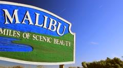 MALIBU SIGN 3 - stock footage