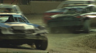 Stock Video Footage of Colorado dirt track racing - Stock Cars