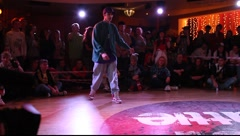 """Winner at the hip-hop final battle during """"Red Battle 2009"""" event Stock Footage"""