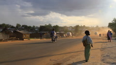 Morning Traffic in Juba, Sudan: Africa Stock Footage