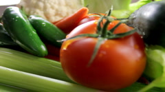 Bounty of Vegetables Stock Footage