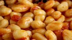 Gnocchi in Tomato Sauce Stock Footage
