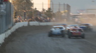 Stock Video Footage of Colorado dirt track racing - IMCA Modified