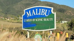 Stock Video Footage of MALIBU SIGN 2