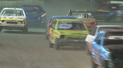 Colorado dirt track racing - Hornets division Stock Footage