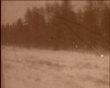 Oldschool film from train Stock Footage