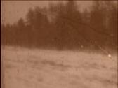 Oldschool film from train Stock Footage