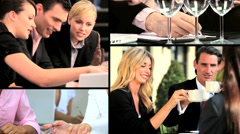 Montage of People in Business Situations Stock Footage
