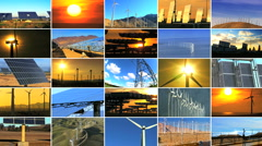 Montage of Clean Energy Production Stock Footage