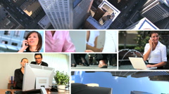 Montage of People in City Business Situations Stock Footage