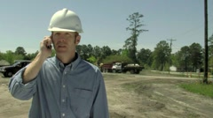 Man at Construction Site - stock footage