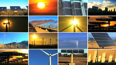 Montage of Renewable Energy Production Stock Footage