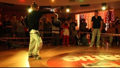 """House"" final battle during ""Red Battle 2009"" breakdace event - stock footage"