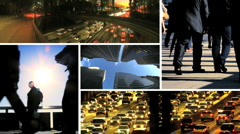 Montage of Business People & City Commuters - stock footage